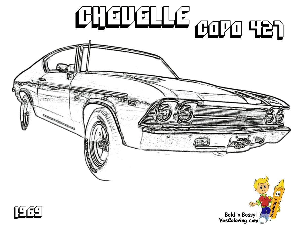 Pin on Brawny Muscle Car Coloring Pages
