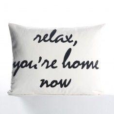 Alexandra Ferguson Relax, You're Home Now Pillow