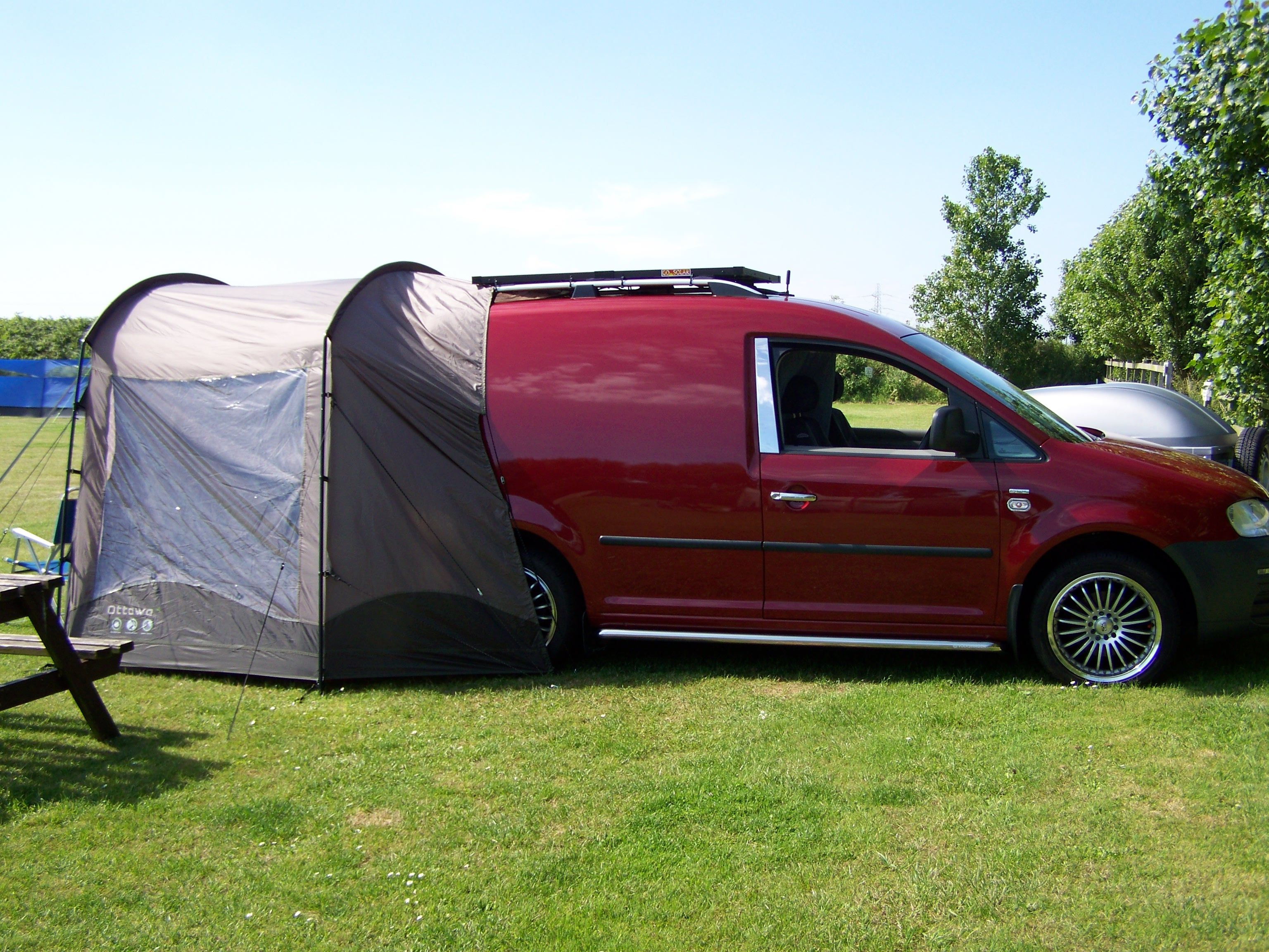 vw caddy solar camper the size of awning is 3 metres x 2. Black Bedroom Furniture Sets. Home Design Ideas