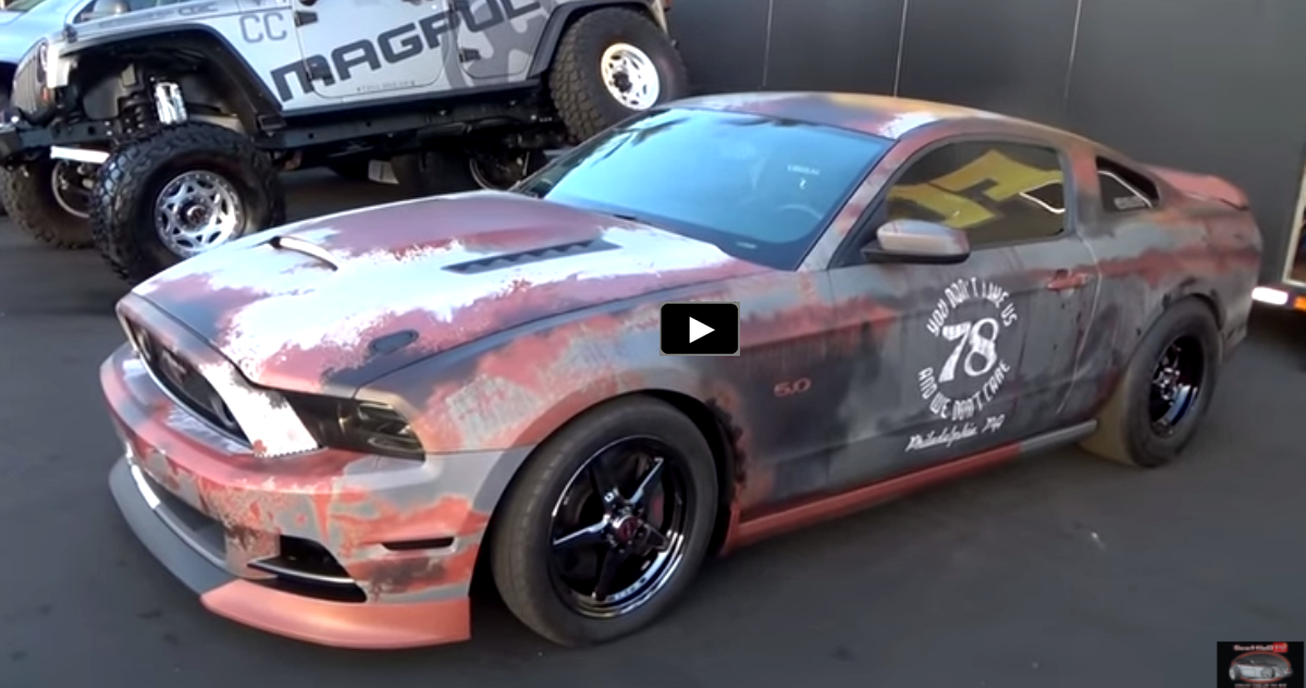 Cool Ford Mustang Gt Drag Car Quot Weathered Wrap Quot Ford
