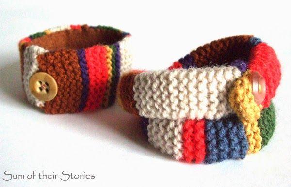 Doctor Who Scarf Bracelets   Pulsera tejida, Puños y Pulseras