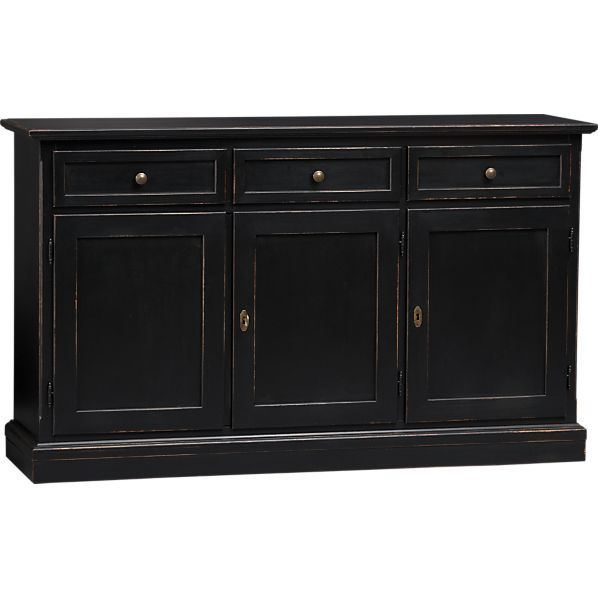 pranzo ii sideboard in dining kitchen storage crate and barrel rh pinterest com modern black buffet sideboard modern black buffet sideboard