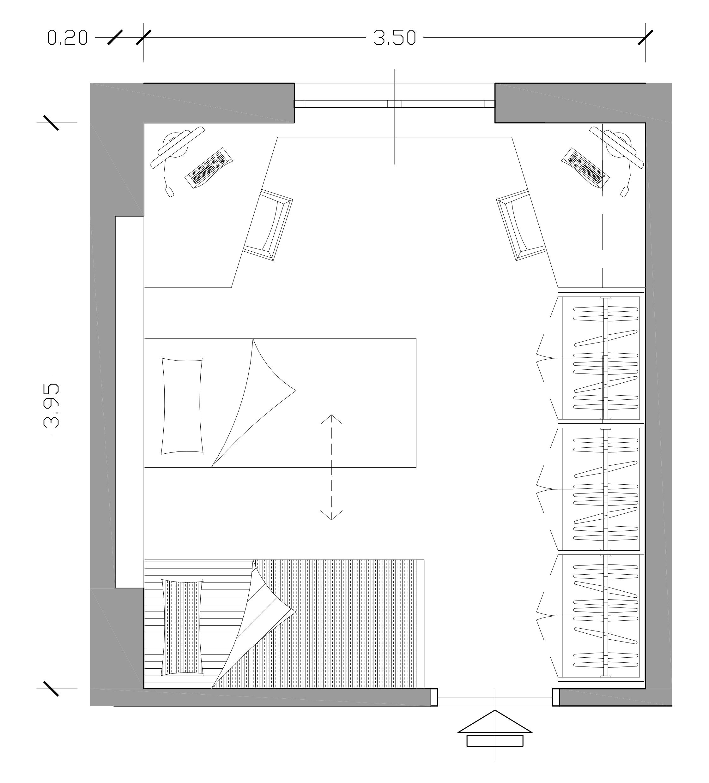 Awesome Pianta Camera Da Letto Ideas - Idee Arredamento Casa ...