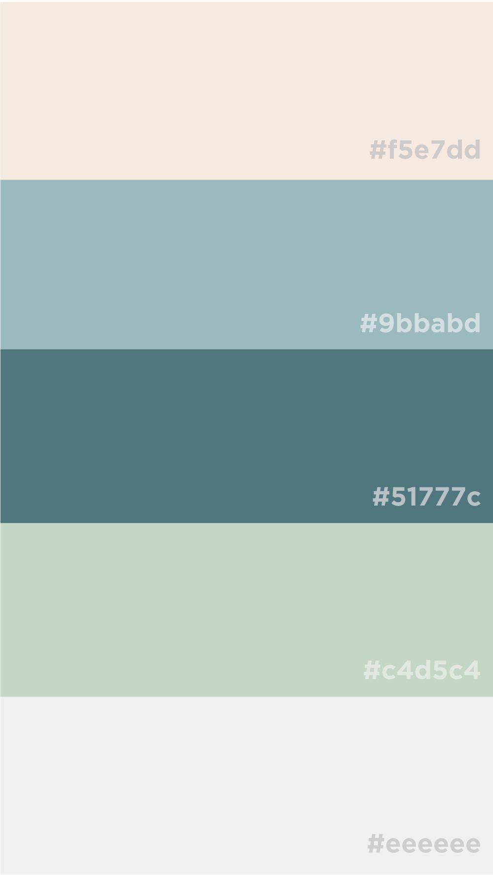 Calm Neutrals Color Palette Soft Blues And Sage Green Green Colour Palette Color Palette Design Green Palette