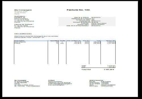 Mod le facture excel t l charger facture pinterest for Logiciel facturation garage auto gratuit