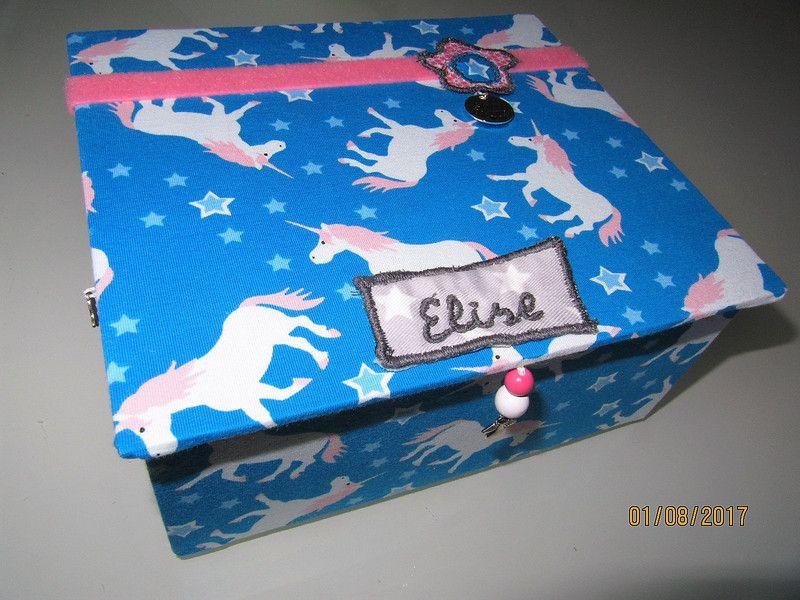 Schmuckbox blau 12 Fächer \