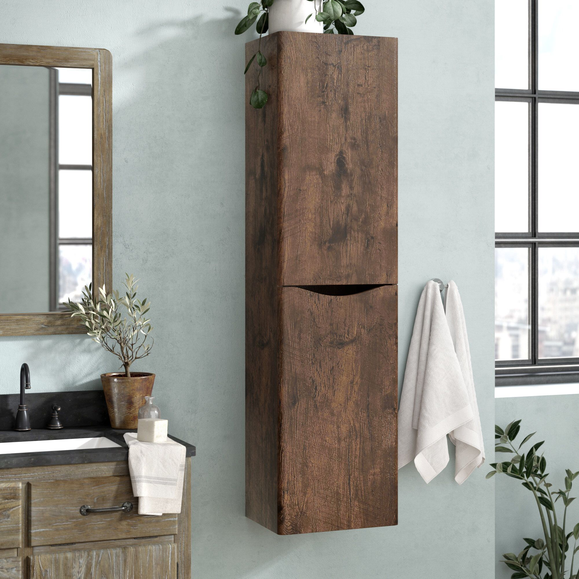 Blondene 15 7 W X 59 1 H Wall Mounted Cabinet Cabinet Shelving Wall Mounted Cabinet Cabinet [ 2000 x 2000 Pixel ]