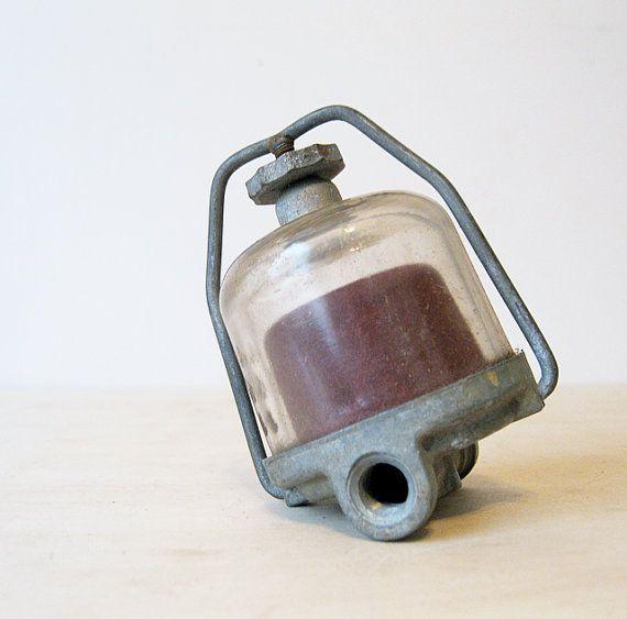 Vintage Ac Glass Fuel Filter 854392 Metal Art Sculpture Glass