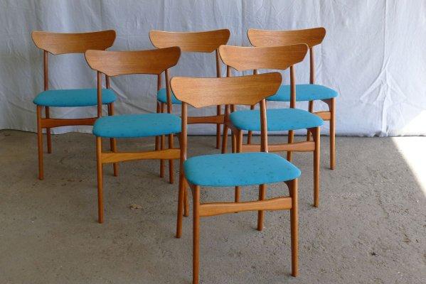 Danish Petroleum Teak Dining Chairs by Schiønning