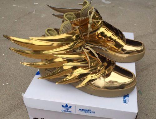 wholesale dealer ca40b 214aa Adidas-Jeremy-Scott-Wings-3-0-b35651-Oro-Metalico-Batman-Talla-4-14-100- Autentico