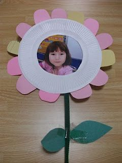Easy Paper Plate Flower Picture Frame Craft Great For Mother S