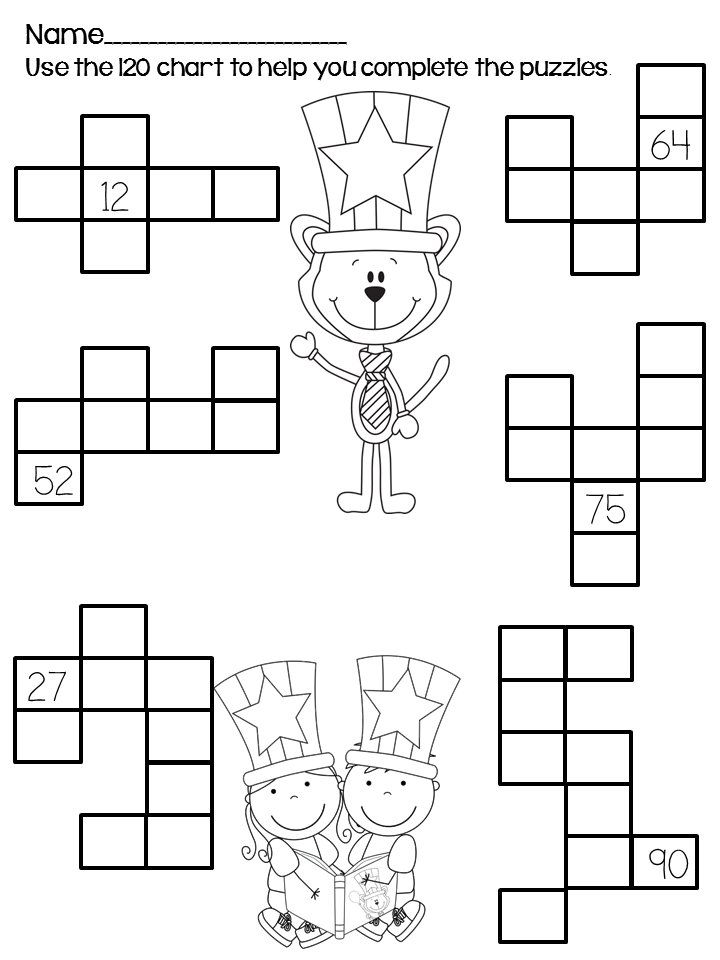 Back To School Activities 120 Chart Puzzles And Math