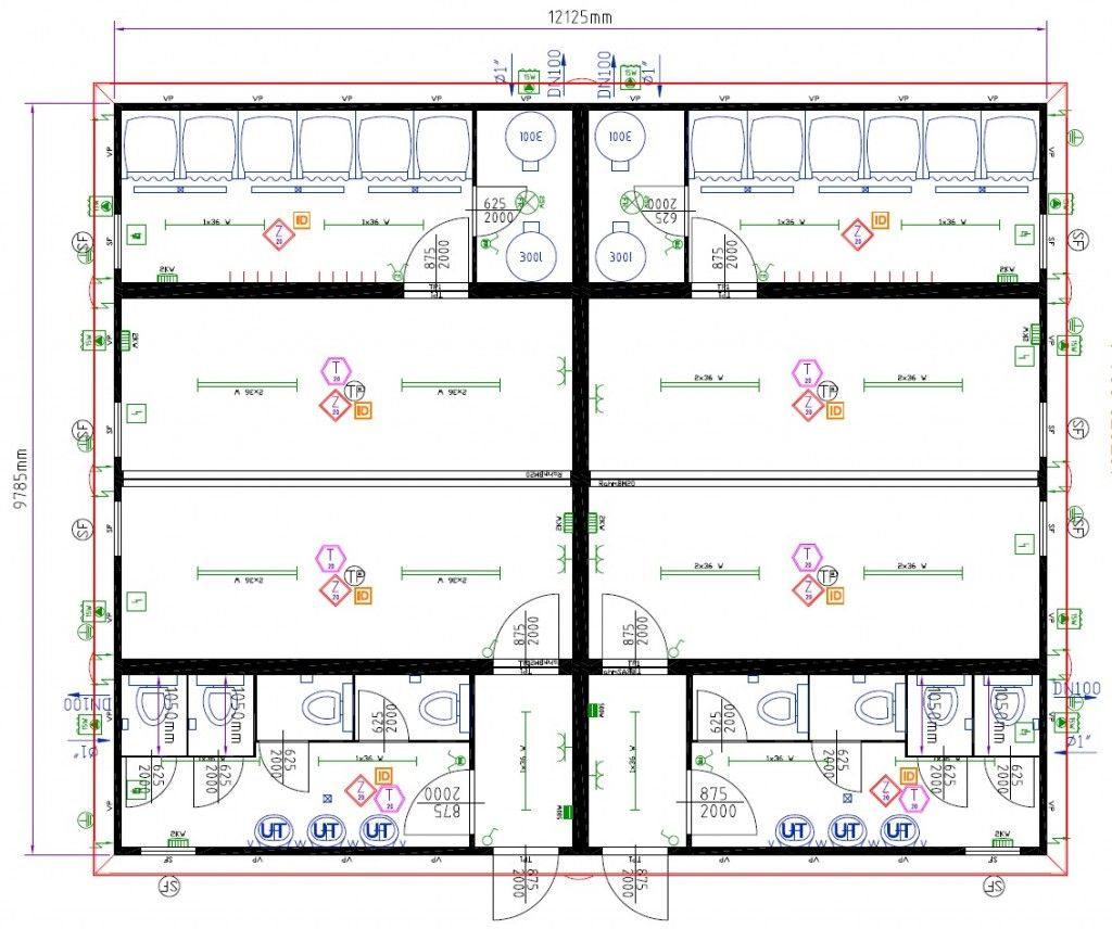 Dressing room  sc 1 st  Pinterest & Large Modular 2 Team Changing Rooms with Showers and Toilets | Sport ...