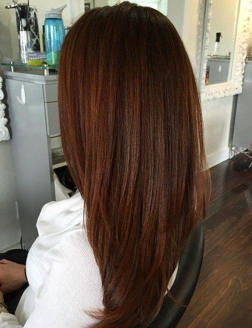 Auburn Hair 12 Auburn Hair With A Side Swept Fringe Hair