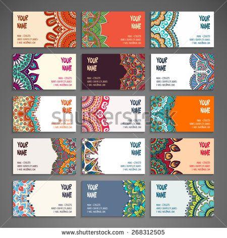 Stock vector business card vintage decorative elements hand drawn stock vector business card vintage decorative elements hand reheart Gallery