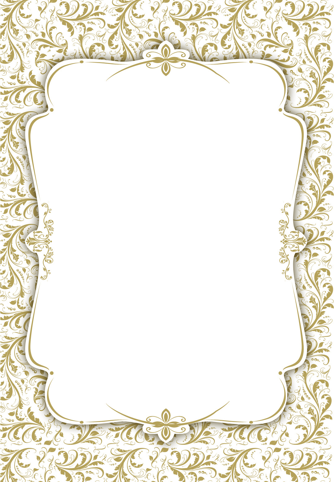 Tasteful Tapestry Frame - Free Printable Wedding Invitation Temp