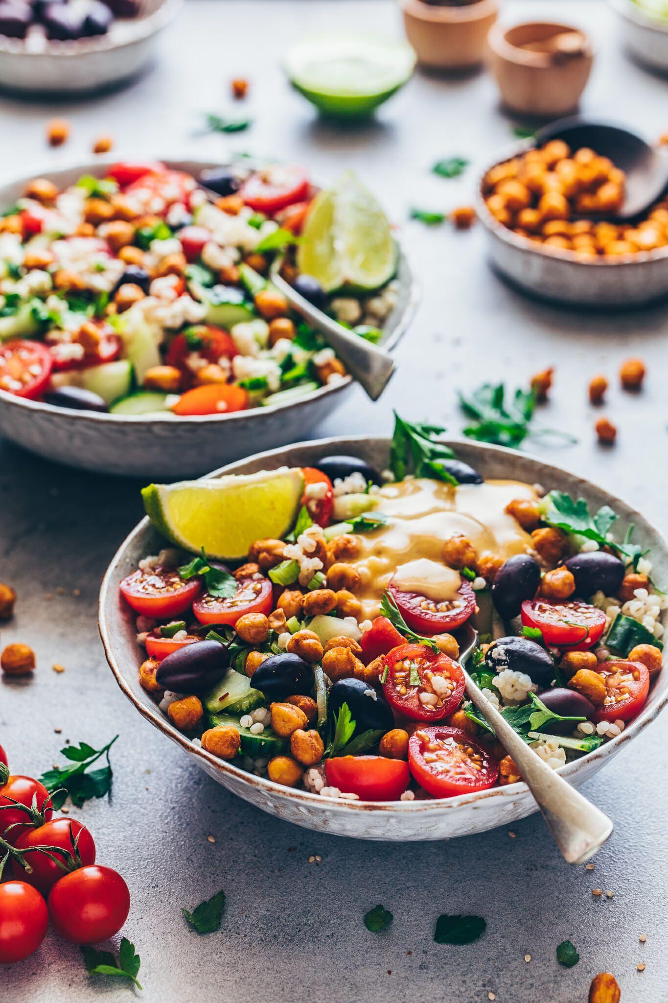 Mediterraner Kichererbsen Salat Einfach Vegan Bianca Zapatka Rezepte Recipe In 2020 Mediterranean Chickpea Salad Chickpea Salad Vegan Delicious Healthy Recipes