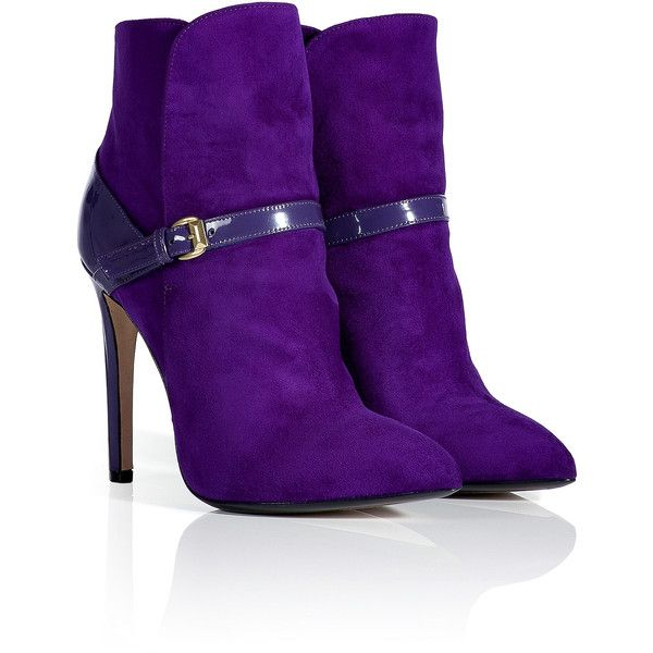 EMILIO PUCCI Violet Patent/Suede Ankle Boots by None, via Polyvore. Une couleur parfaite !