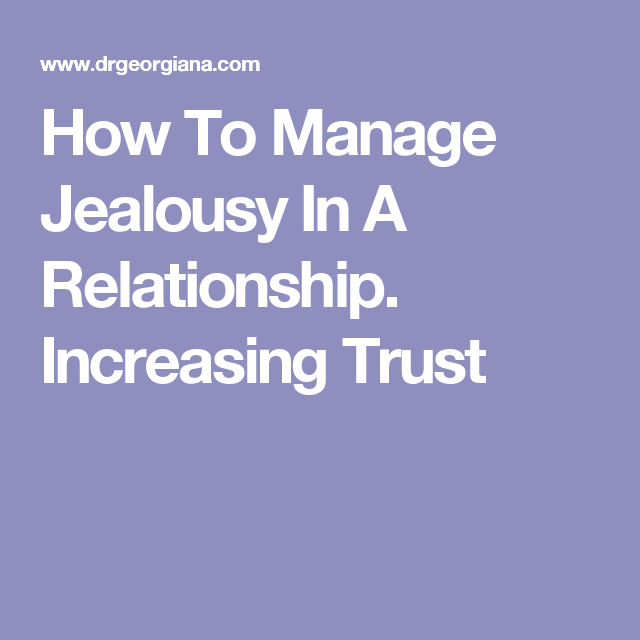 Manage How jealousy to