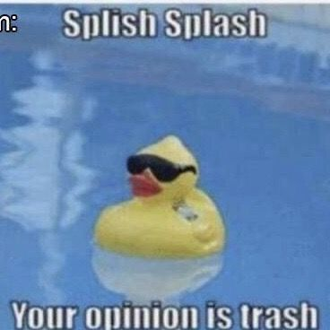 Your Opinion Is Trash In 2020 Funny Insults Funny Relatable Memes Cute Memes