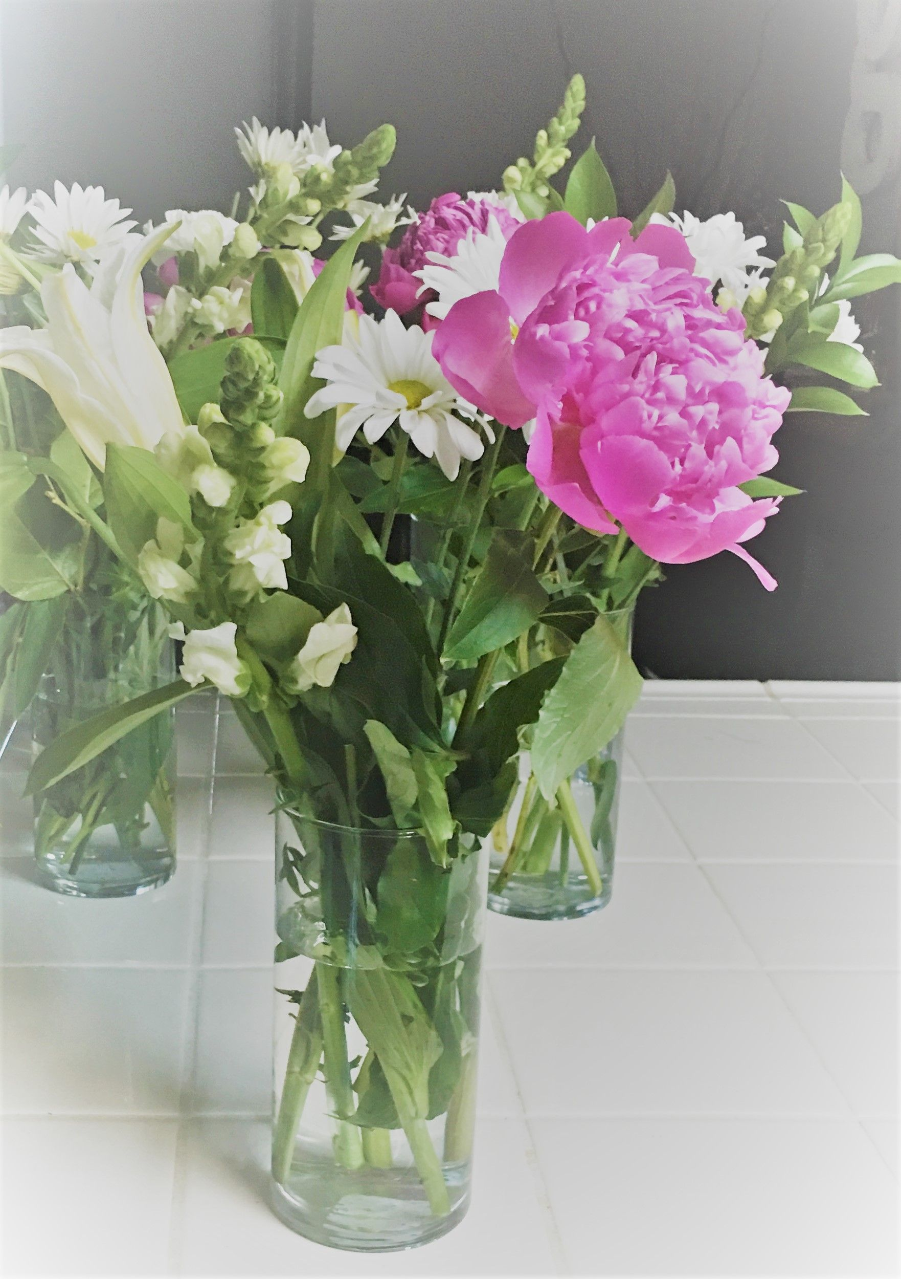 Cheap Flower Arrangementcenter Piece For Girls Baby Shower I Used