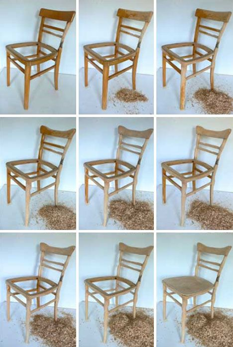 Upcycling Furniture: Custom Whittled Wood Craft Chair