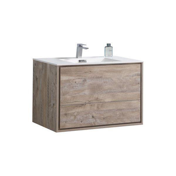 Trieu 36 Wall Mounted Single Bathroom Vanity Set Single