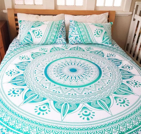 Mandala Queen Bed Cover -w- Pillow covers Material - 100% Cotton FabricPrints…                                                                                                                                                                                 More