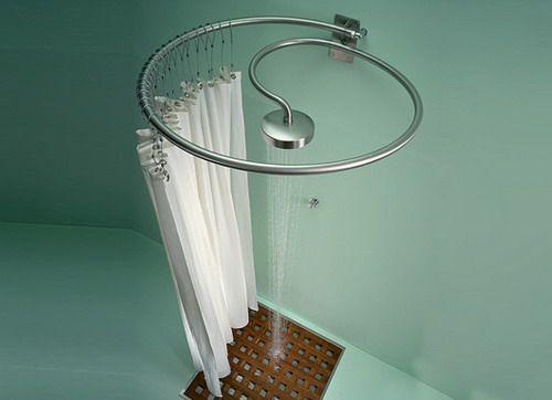 Circular Shower Curtain Rod Decor Ideas Modern Shower Shower