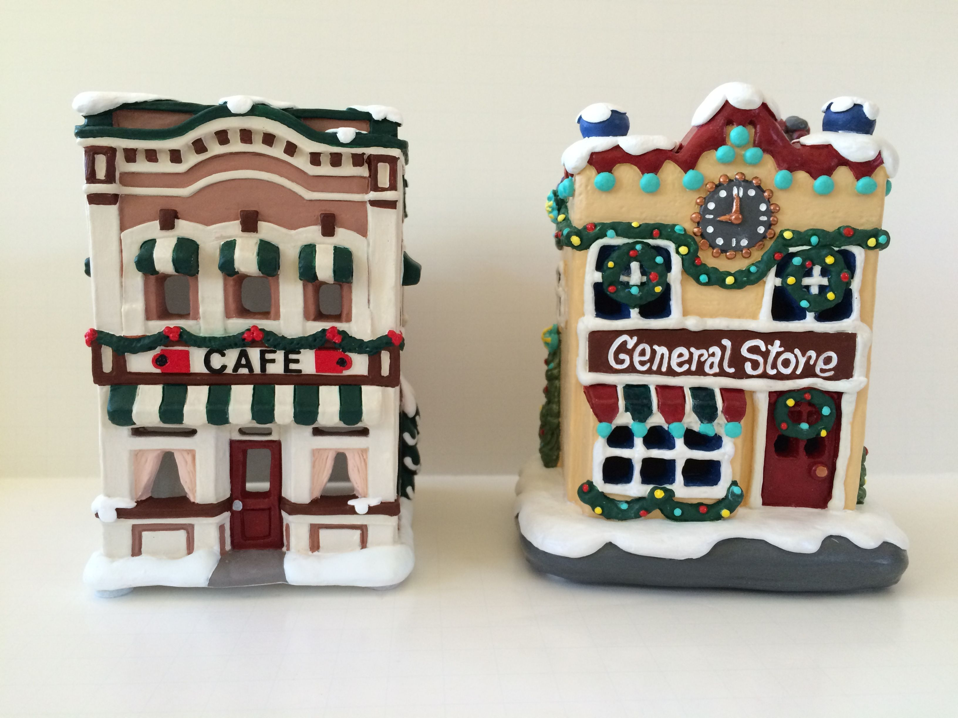 Hand painted by me   Christmas villages, Plaster crafts ...