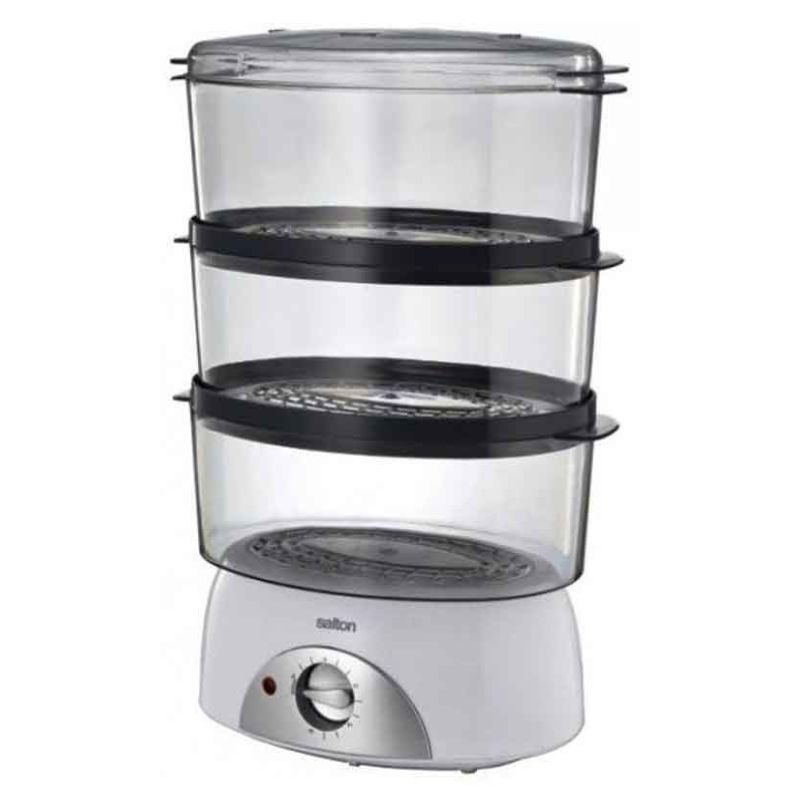 Salton Sfs100 3 Tier Food Steamer 6l Capacity Steamer Recipes Food Steamer