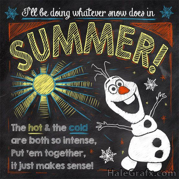 FREE Printable Frozen Olaf Chalkboard Art