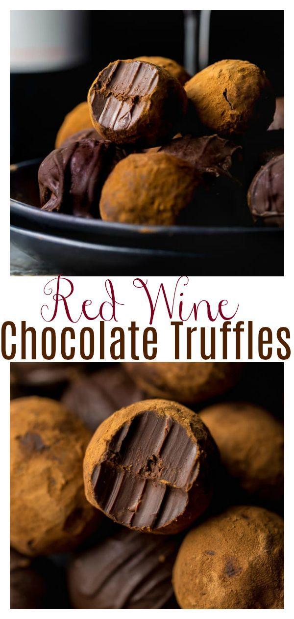 Red Wine Chocolate BonBons