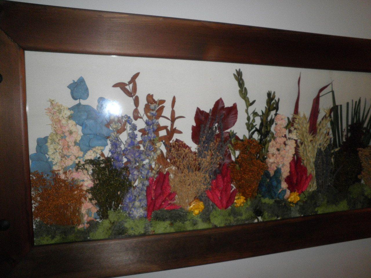 Cuadros  trabajados con flores secas