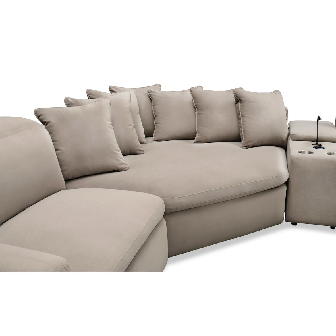 Dual Reclining Sectional