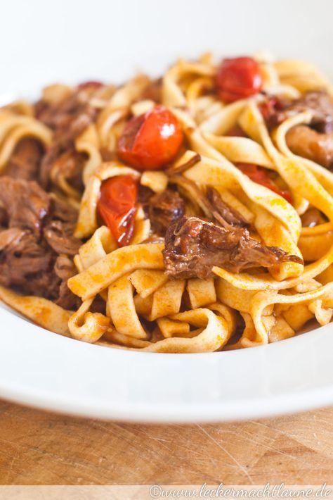 Rinderragout & Hartweizenpasta | lecker macht laune