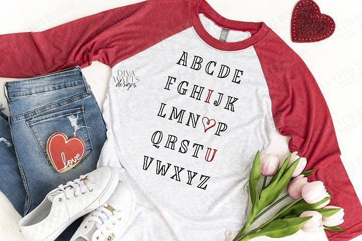 Download ABC I Love You Heart  Alphabet   Girl Boy   Teacher   SVG ...