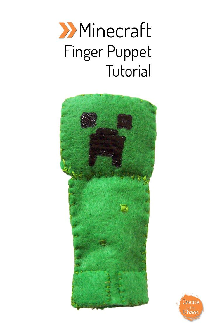 Minecraft finger puppet tutorial creeper do it yourself today diy minecraft creeper felt finger puppet tutorial super fun and easy craft createinthechaos solutioingenieria Choice Image