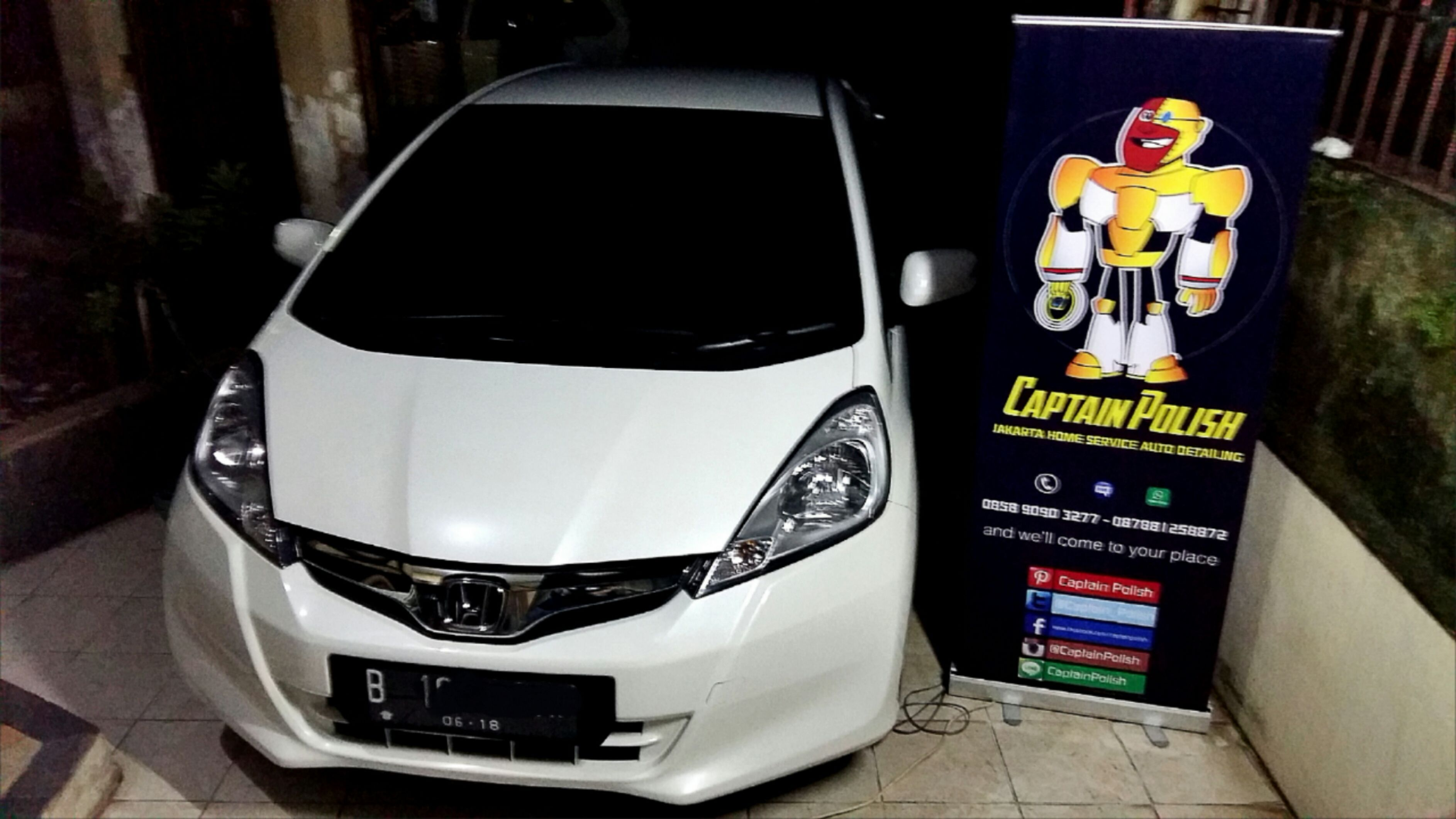 Honda Jazz 2013 Rear Windshield Wet Sanding