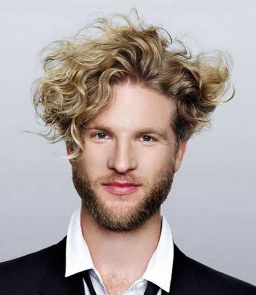 Curly Messy Blonde Hair For Men Men Blonde Hair Curly