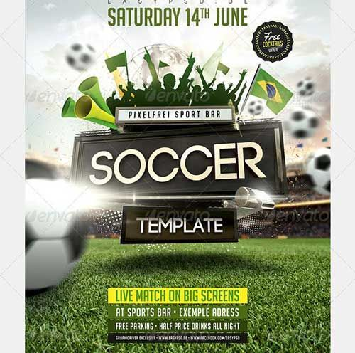 SOCCER TOURNAMENT FLYER DESIGN map Pinterest - soccer flyer template