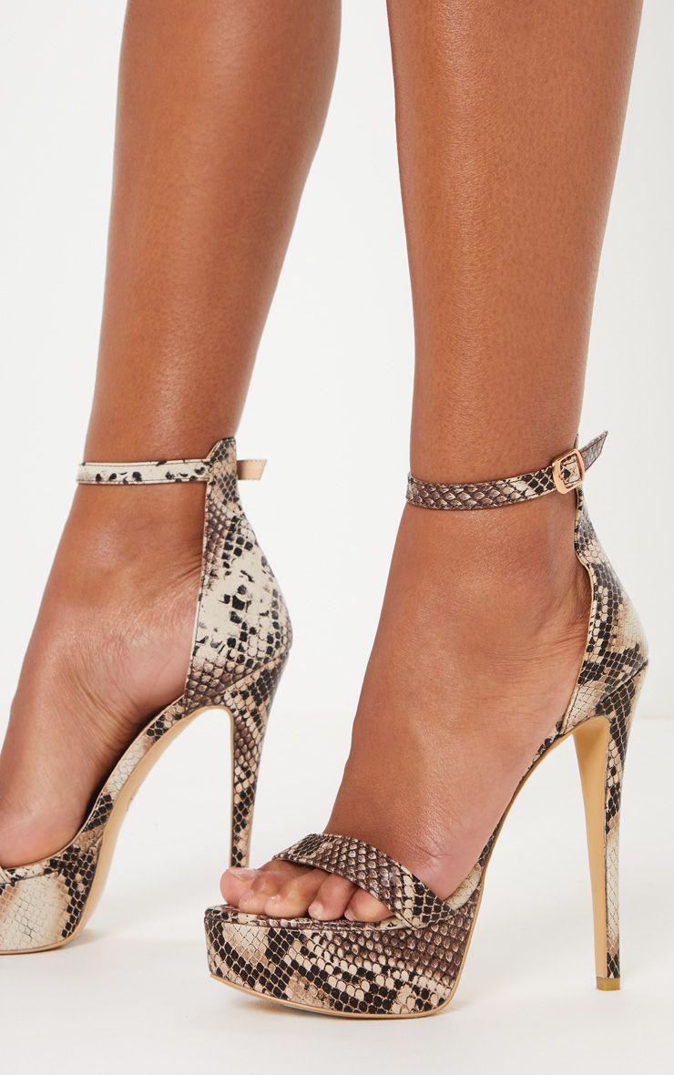 High Snake Print Platform | Heels