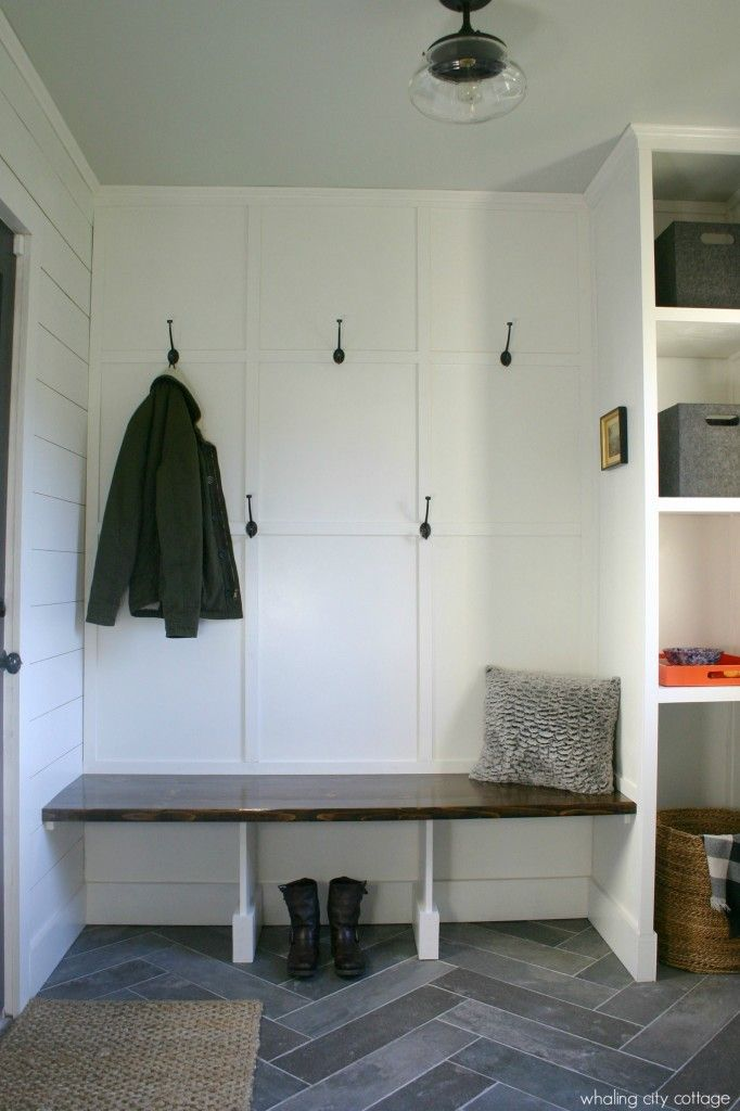 Shiplap and slate mudroom whaling city cottage dream for Mudroom flooring