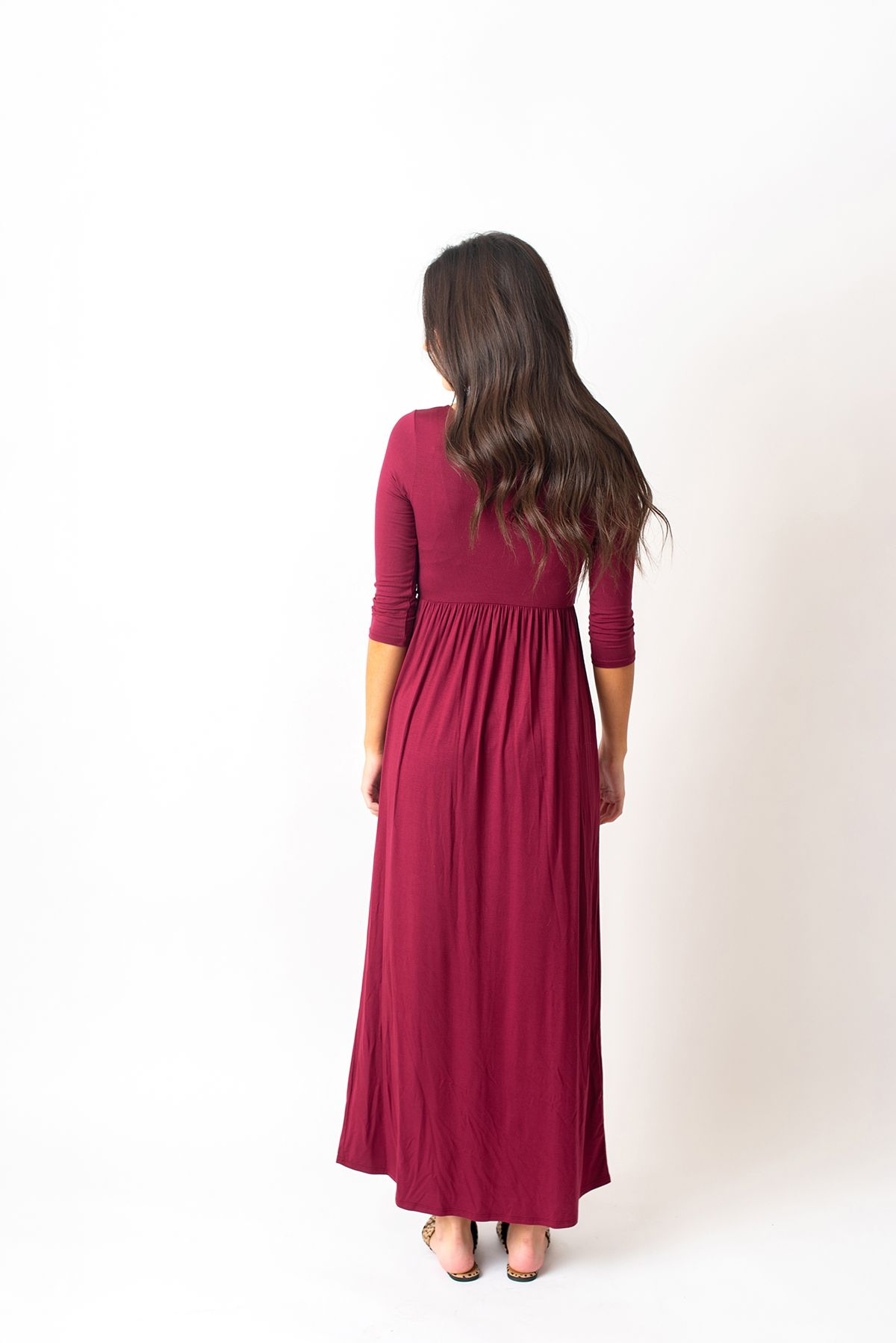 036 24 75 The Grace Burgundy 3 4 Sleeve Maxi Dress Https Batessistersboutique Com Product The Grace Burgundy 3 Maxi Dress With Sleeves Dresses Maxi Dress [ 1798 x 1200 Pixel ]