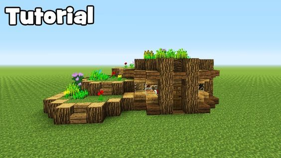 Minecraft tutorial how to make  starter eco survival house youtube also rh pinterest