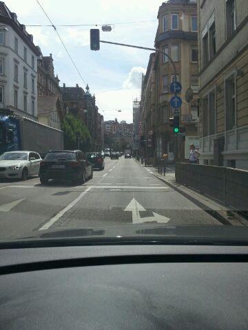 Stuttgart-Fahrt Hauptstädter Strasse Richtung Hesslacher Tunnel