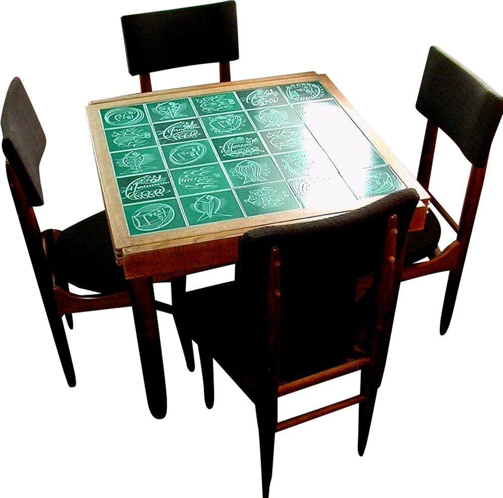Ensemble de table haute et 4 chaises, Maurice PRE - 1950 | Design market