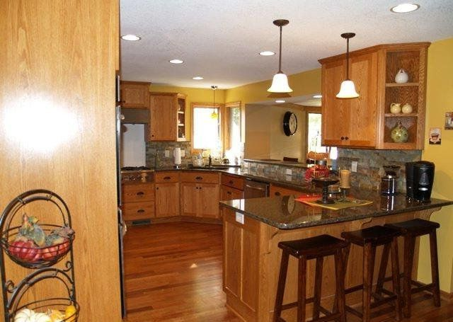 kitchen remodel ideas with oak cabinets - Kitchen Design With Oak Cabinets