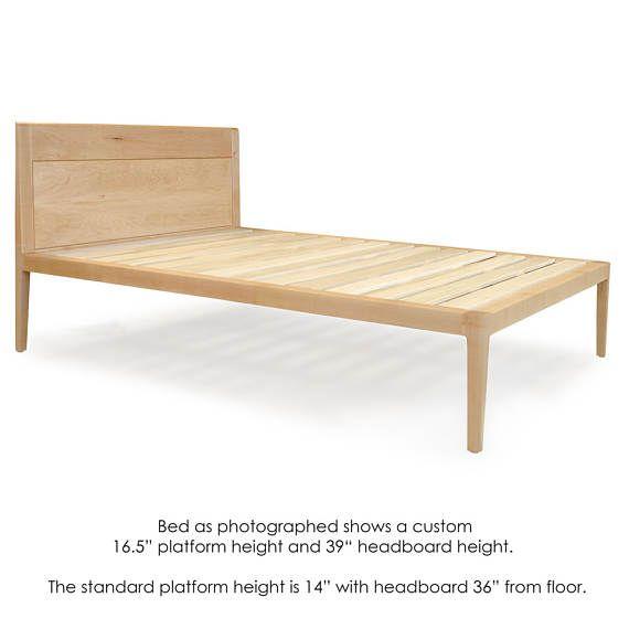 Delaware Solid Wood Platform Bed Frame: Maple Platform Bed No. 1