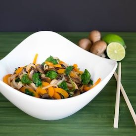 Chili Lime Asian Rice Noodles - Gorgeous, full of umami flavors and super easy!